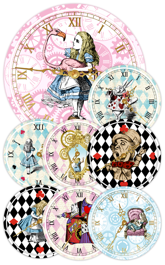 picture relating to Printable Alice in Wonderland referred to as Alice inside Wonderland Clocks - Printable Clocks - Typical Alice - Alice within Wonderland Celebration - Alice within Wonderland Printable - Alice Decoration