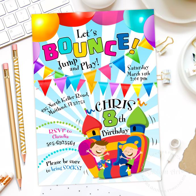 jump invitation bounce house invitation jump by lythiumart on zibbet
