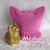 Cat Ears Hat or Pussy Hat, made to order in your choice of Pink or Rainbow
