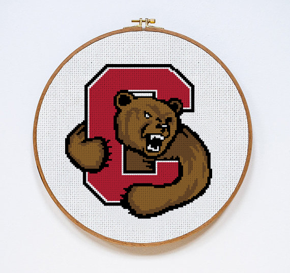 Cornell University Big Red | Digital Download | Sports Cross Stitch Pattern |