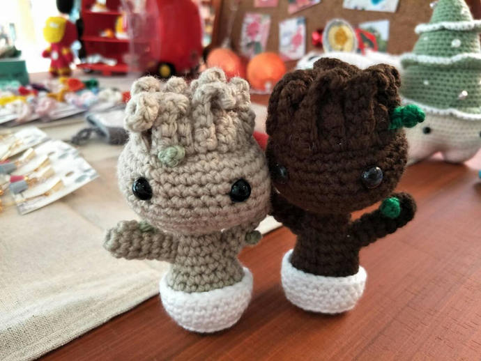 Amigurumi Patterns Groot : Amigurumi baby groot by pcknitcrochet on zibbet