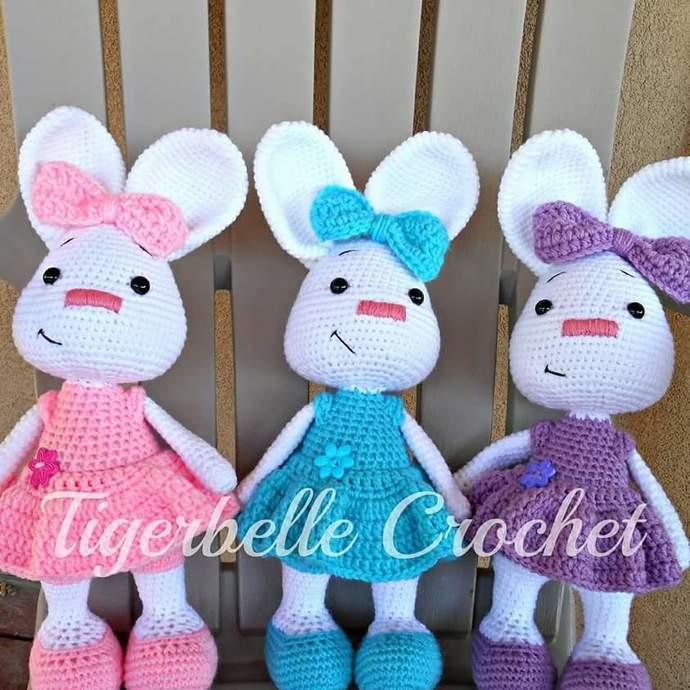 Bunny doll, amigurumi bunny, Easter bunny