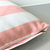 Custom Your Color. Chic Gold Text Decorative Pink White Stripes Pillow Cover.