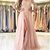 Pink Long Sleeve Lace Applique Prom Dress,Tulle Evening Dress,Slit Side Backless