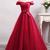 Elegant Red Prom Dress Off-the-shoulder Tulle Long Prom Dresses/Evening,122720