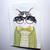 Joaquin the Hipster Cat Original Folk Art Watercolor Painting
