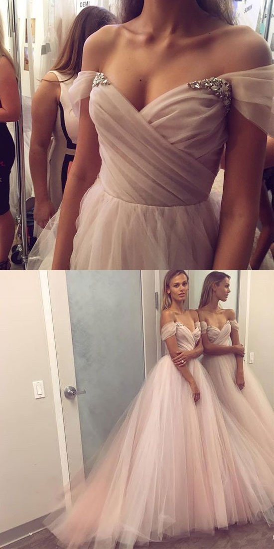Off the Shoulder Elegant 2018 Prom Dresses,Prom Dresses,Formal Women Dress,prom