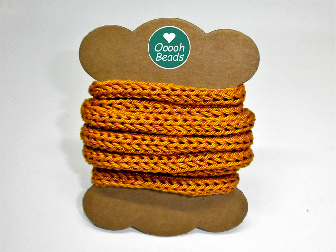 Golden 100% Cotton Cord for Beading and Jewelry Making, Handmade Cord, icord