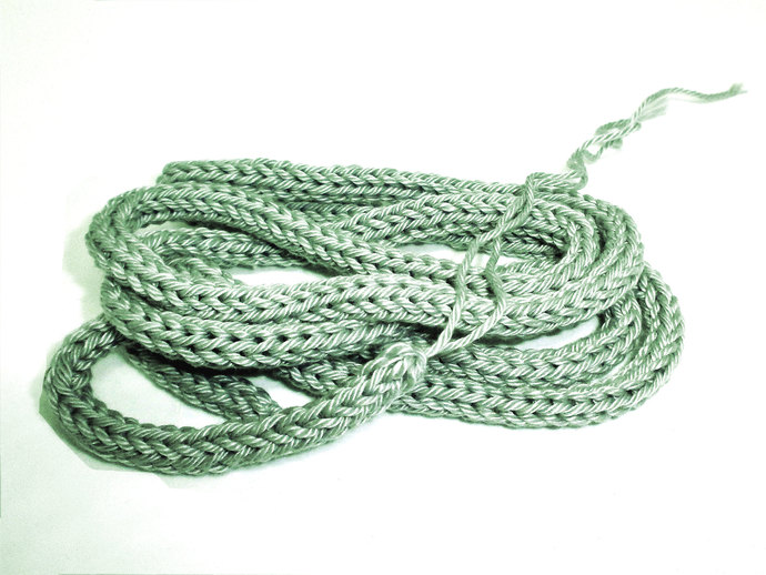 Light Silvery Green 100% Cotton Cord for Beading and Jewelry Making, Handmade