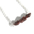Raw Garnet Sterling Necklace Rough Cut Small Nuggets Natural Gemstone January
