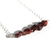 Raw Garnet Sterling Necklace Natural Garnet Rough Cut Small Nuggets January