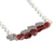 Raw Natural Garnet Sterling Necklace Rough Cut Garnet Small Nuggets January