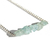 Raw Aquamarine Sterling Necklace Rough Cut Gemstone Sterling Silver Chain Rustic