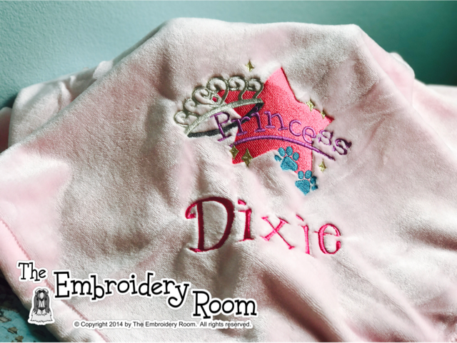 Princess Dog Blanket - Custom Embroidered-Personalized