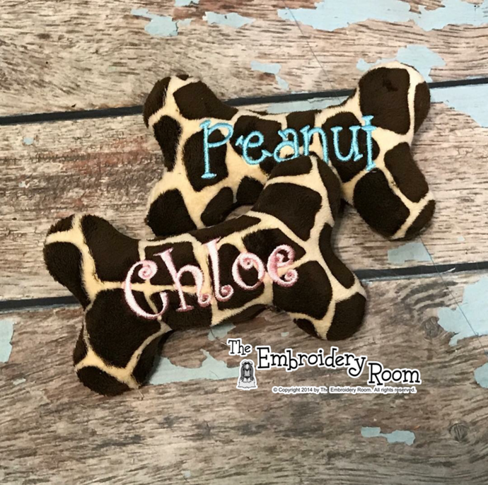 Personalized Giraffe Squeaky Bone Toy For Small SPOILED Dogs