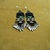 Native American Style Brick Stitched Geometric Earrings in Silver,Black and