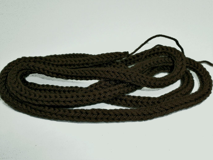 Dark Olive/Khaki 100% Cotton Cord for Beading and Jewelry Making, Handmade Cord