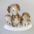 Large,Vintage German porcelain figurine,dog family,dachshund,handpainted,stamped