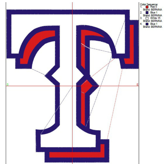Texax Rangers embroidery design,Baseball logo,pes files,towel pattern,instant