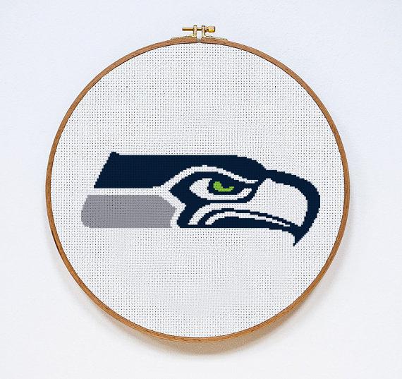 Seattle Seahawks | Digital Download | Sports Cross Stitch Pattern | Football