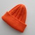 Child Size Orange Hat with Cuff Ready to Ship