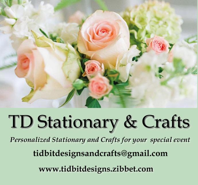 Scrolling Boarder Tri Fold Wedding Programs Personalized Set