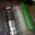 Star Wars Glowing Lightsaber 1G USB Flash Drive w/ LED Light Set Of 2 (RED +