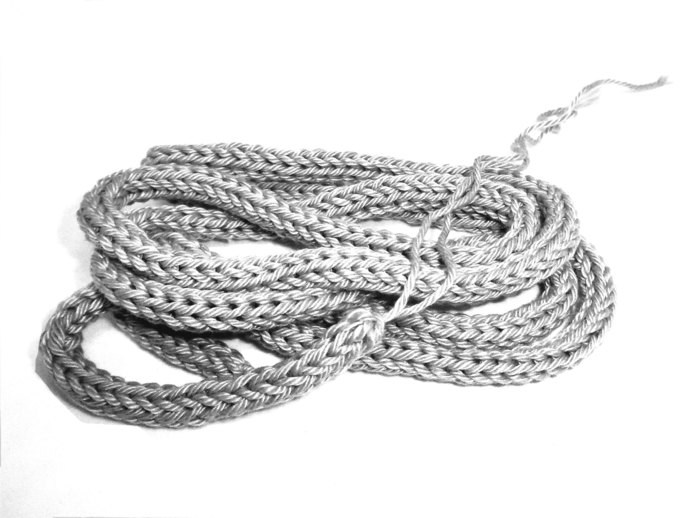 Light Silver Grey 100% Cotton Cord for Beading and Jewelry Making, Handmade Cord