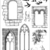 CASTLE WINDOWS - -Set of unmounted rubber stamps by Cherry Pie PL55
