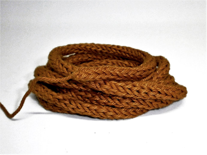 Light Brown 100% Cotton Cord for Beading and Jewelry Making, Handmade Cord
