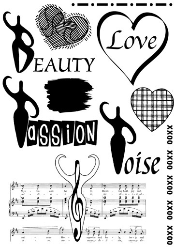 You are a GODDESS  -Set of unmounted rubber stamps by Cherry Pie PL60