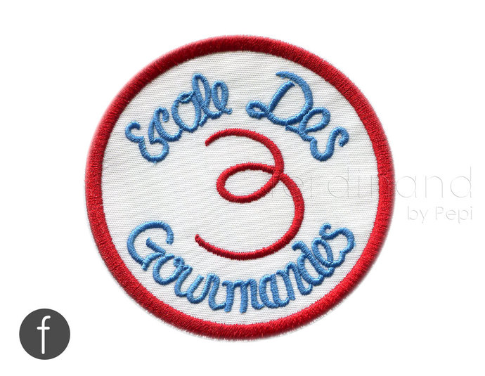 Julia Child patch The 3 Gourmets Ecole Des 3 Gourmands Badge Iron On Patch