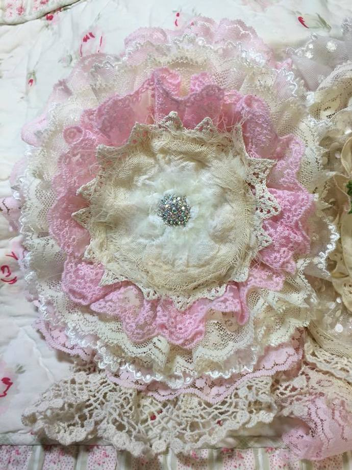 Pink Roses Doily Book