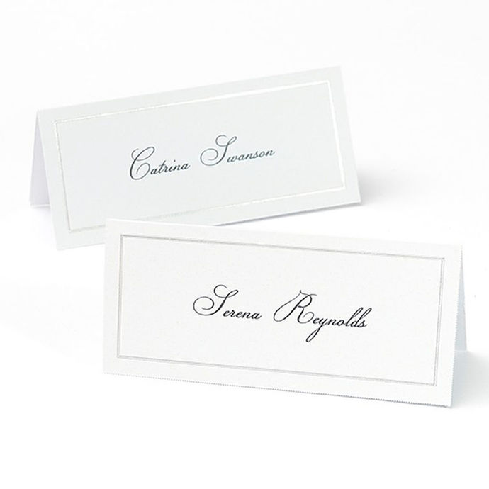 Platinum Border Place Cards 48 Count  / Print Your Own / D.I.Y