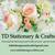 Beautiful Flourish Champagne Flute Escort Cards / Place Cards Personalized Set
