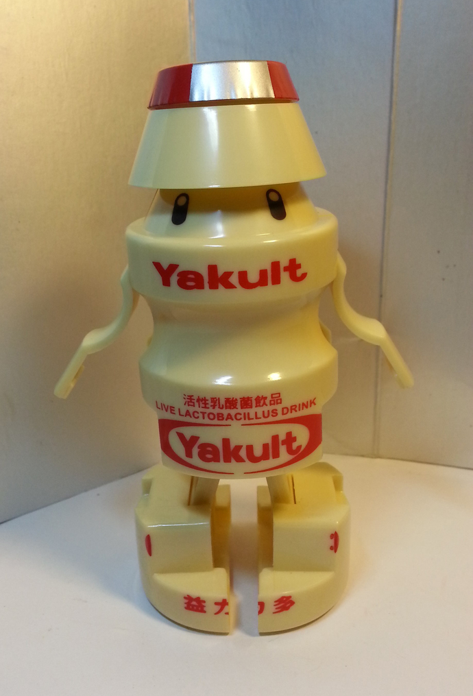 Yakult (ヤクルト Yakuruto) Transform Robot Action Figure - Hong Kong Exclusive - New
