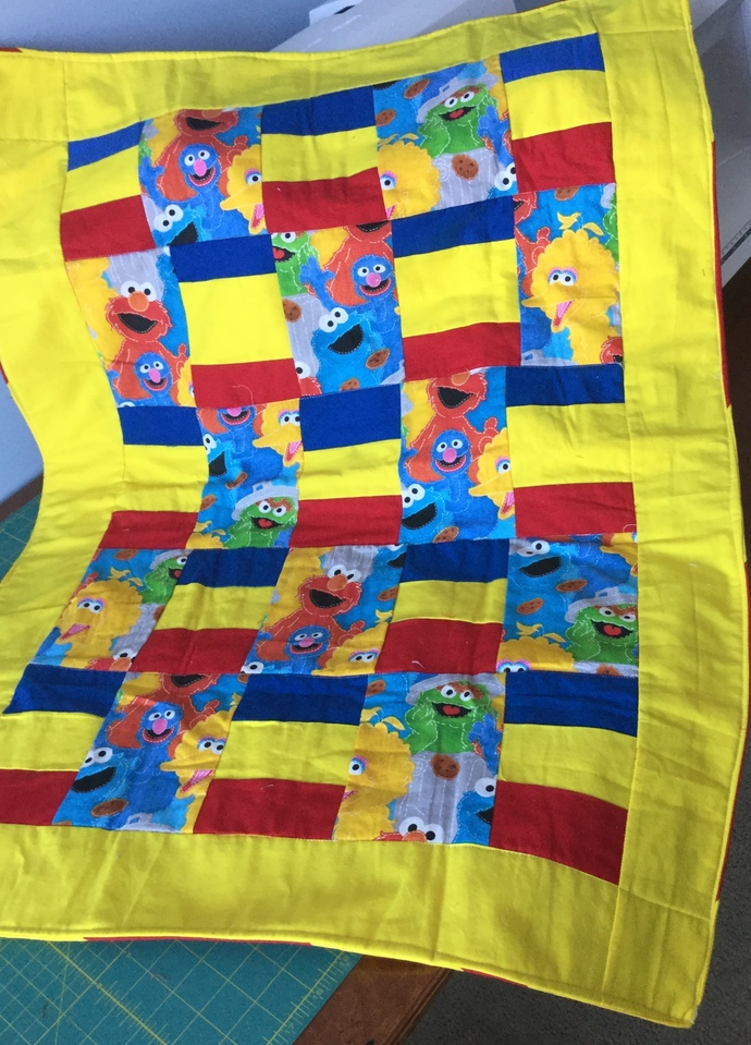Seasame Street Baby Quilt