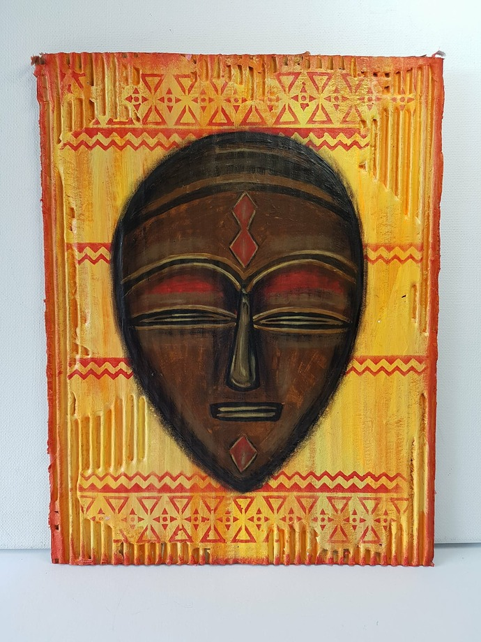 African Mask Painting