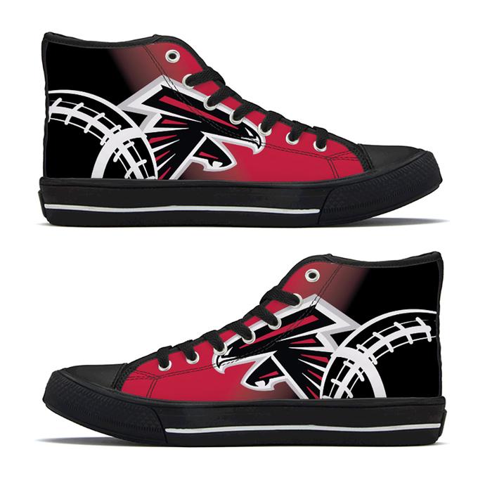 Men's Atlanta Football Custom Fan Made High Top Canvas Athletic Shoes