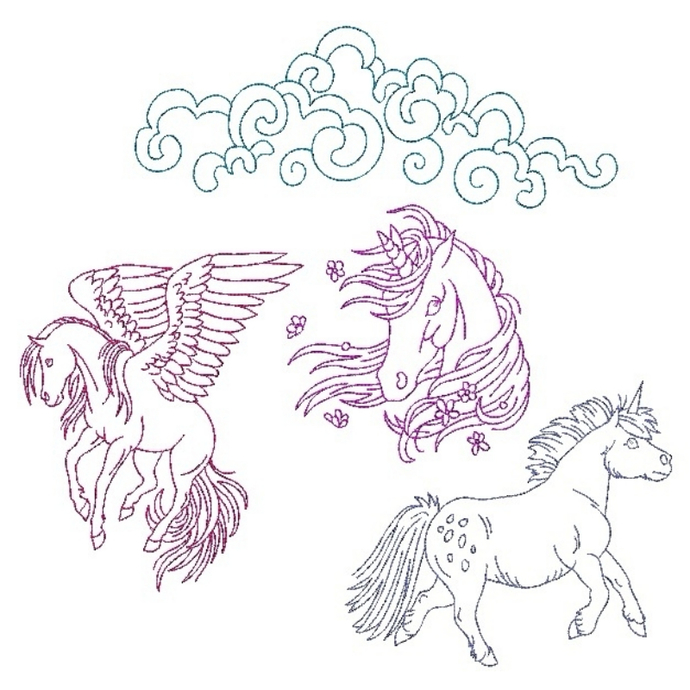 Horse embroidery design,horse redwork,Machine embroidery design Pack Digital