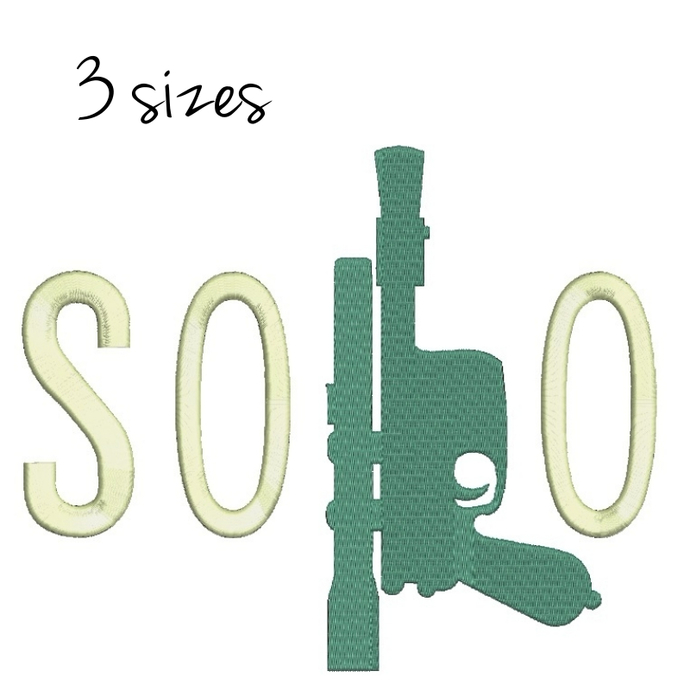 Han Solo Star Wars Gun Embroidery Designs,star wars,pes,machine design