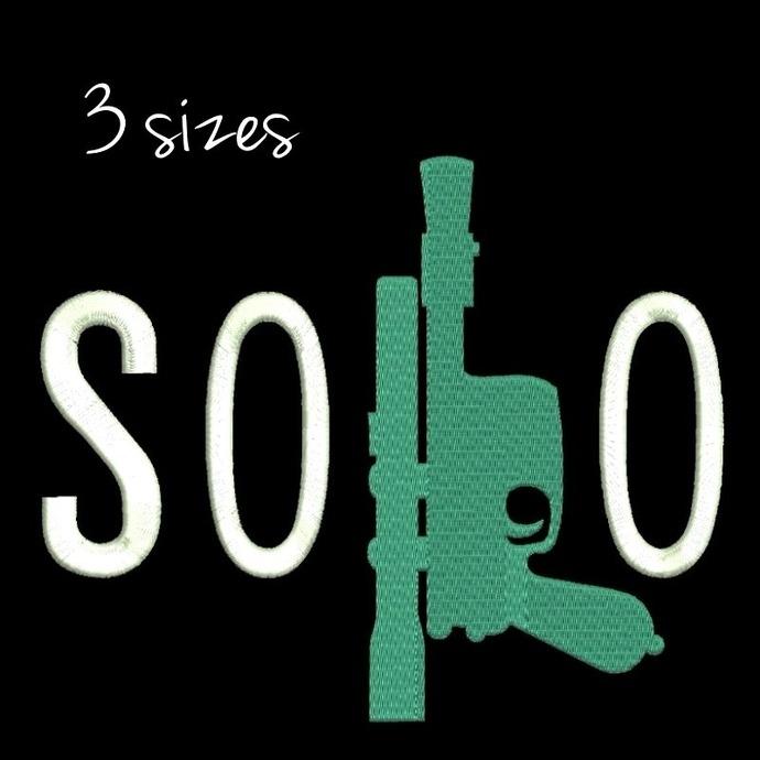 Han Solo Star Wars Gun Embroidery Design