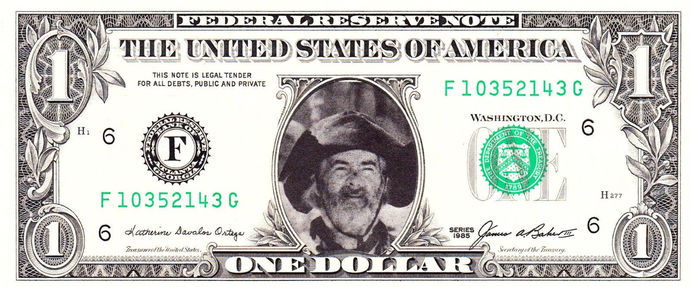 GABBY HAYES Real Dollar Bill Cash Money Collectible Memorabilia Celebrity