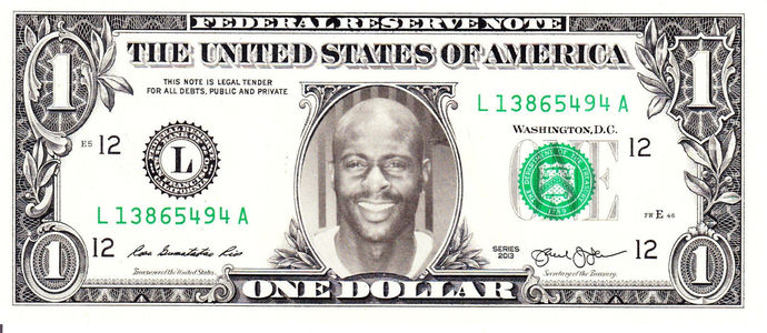 JERRY RICE on Real Dollar Bill Cash Money Collectible Memorabilia Celebrity