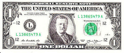 Theodore Teddy Roosevelt on Real Dollar Bill Cash Money Collectible Memorabilia