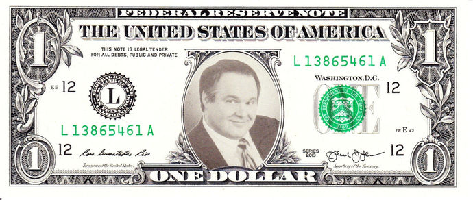 RUSH LIMBAUGH on Real Dollar Bill Cash Money Collectible Memorabilia Celebrity