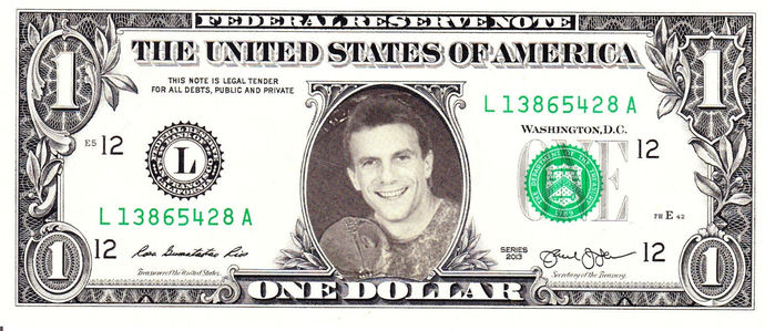 JOE MONTANA on Real Dollar Bill Cash Money Collectible Memorabilia Celebrity