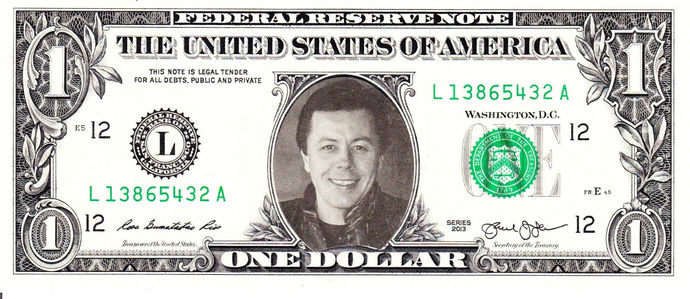 ALAN KULWICKI on Real Dollar Bill Cash Money Collectible Memorabilia Celebrity