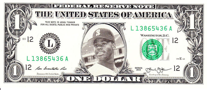 KEN GRIFFEY JR on Real Dollar Bill Cash Money Collectible Memorabilia Celebrity