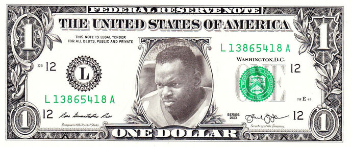 EMMETT SMITH on Real Dollar Bill Cash Money Collectible Memorabilia Celebrity